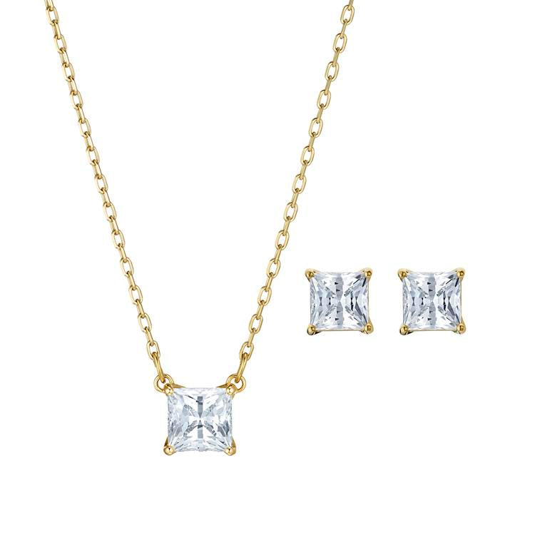 Swarovski Attract Square Necklace Earring Set 5510683