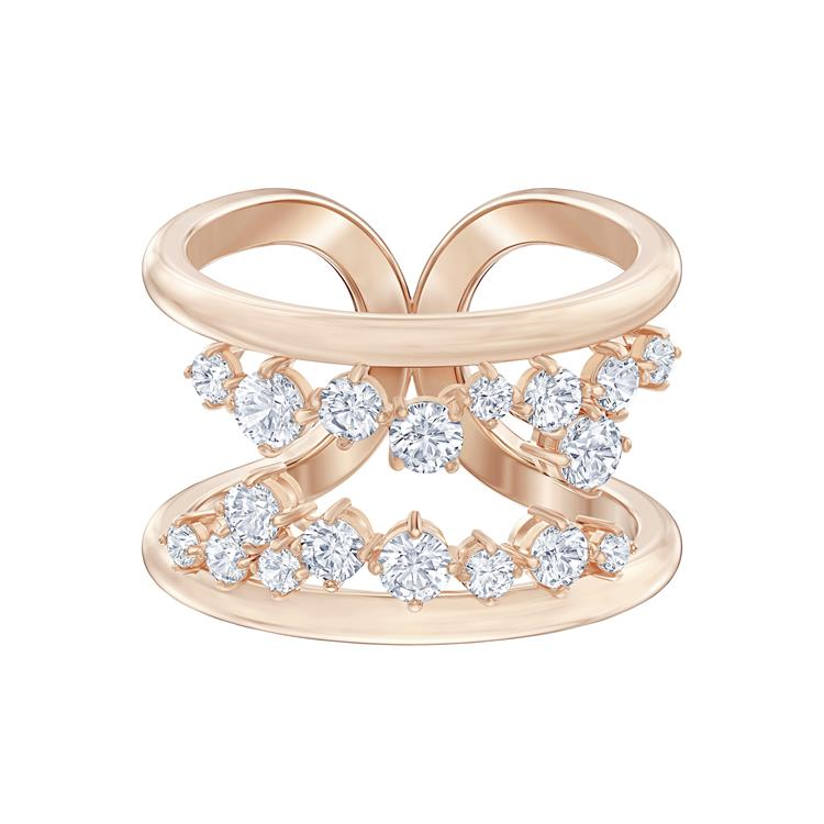 Swarovski North Open Band Crystal Rose Gold Ring