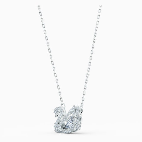 Swarovski Dancing Swan Necklace Rhodium 5514421
