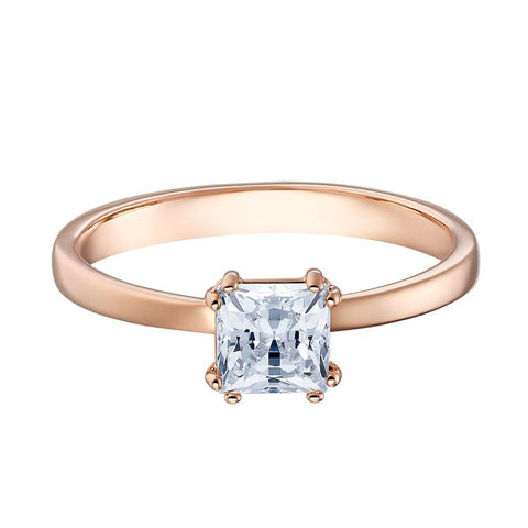 Swarovski Attract Square Solitaire Rose Gold Ring