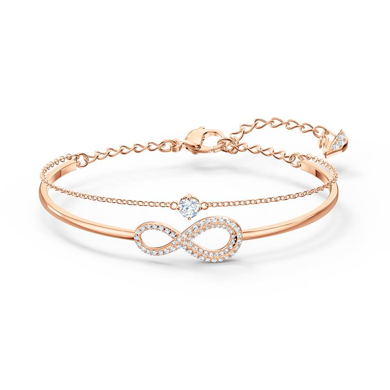 Swarovski Infinity Double Line Bangle