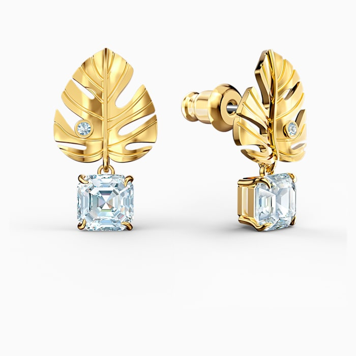 Swarovski Tropical Leaf Earrings Gold 5519253