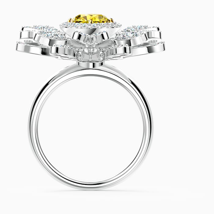 Swarovski Eternal Flower Daisy Ring Yellow