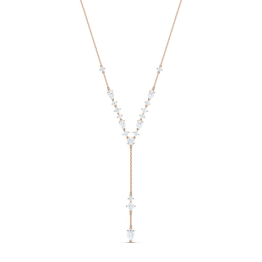 Swarovski Attract Y Necklace Rose Gold 5556911