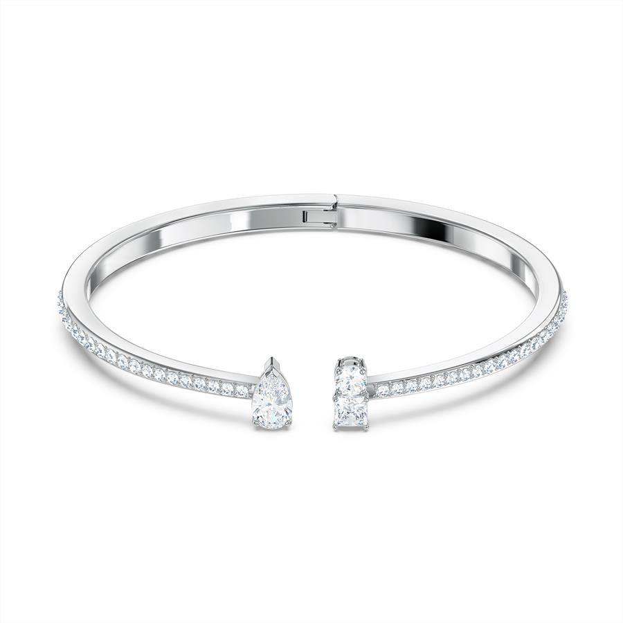 Swarovski Attract Open Cuff Bracelet Rhodium Plated