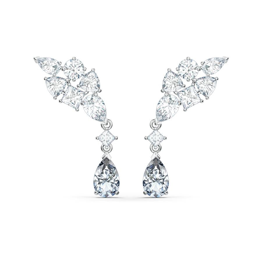 Swarovski Tennis Deluxe Cluster Earrings 5562086