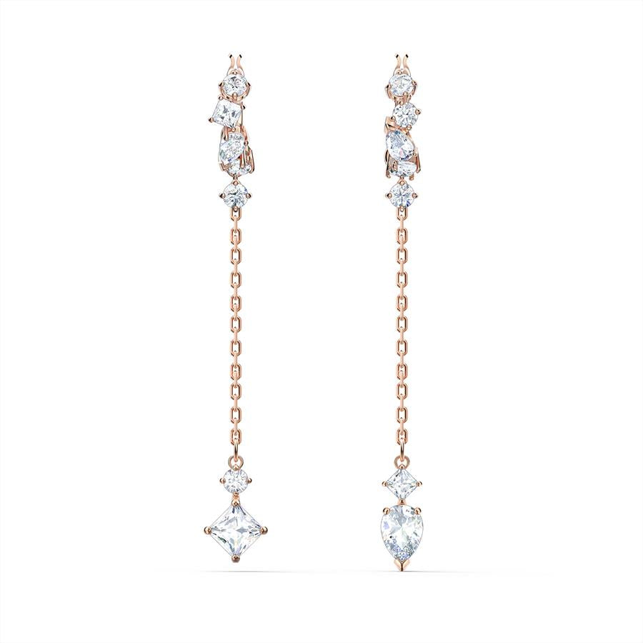 Swarovski Attract Drop Earrings Rose Gold 5563118