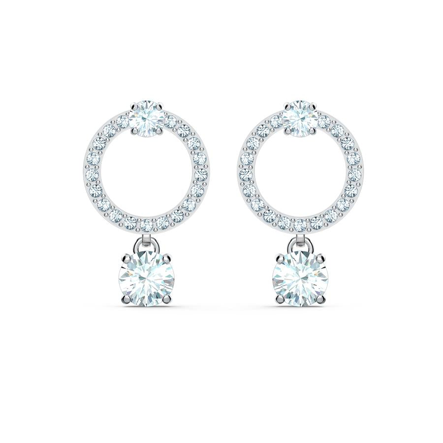 Swarovski Attract Circle Earrings Rhodium 5563278