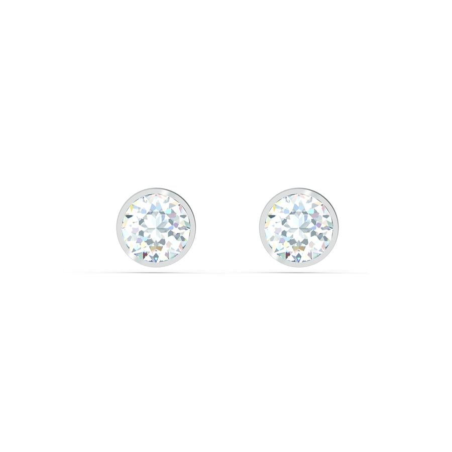 Swarovski Tennis Stud Earrings Rhodium 5565604