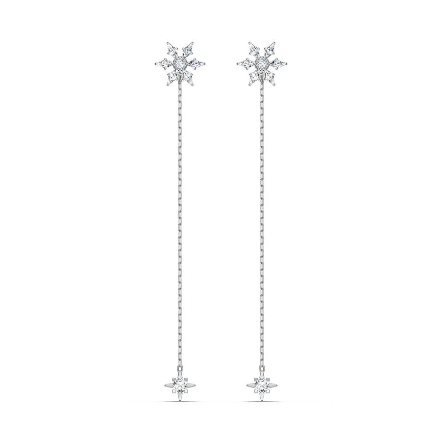 Swarovski Magic Chain Drop Earrings Rhodium 5566677
