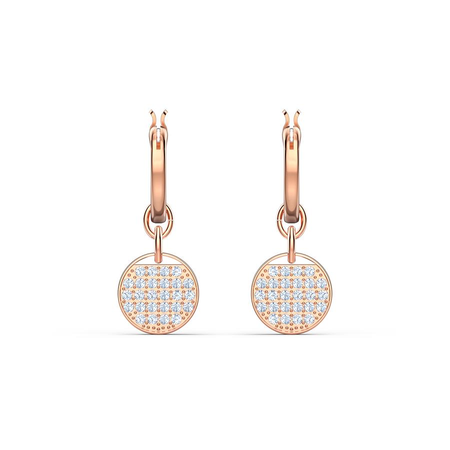Swarovski Ginger Mini Hoop Earrings Rose Gold 5567528