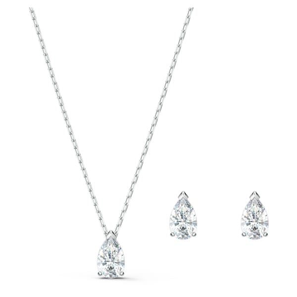 Swarovski Attract Pear Set White Rhodium 5569174