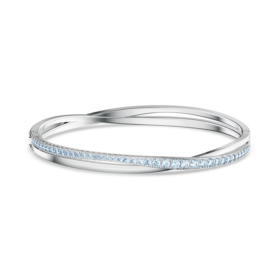 Swarovski Twist Rows Bangle Bracelet Blue
