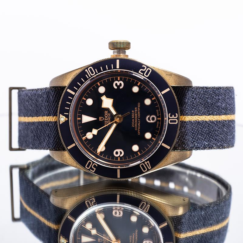 "Pre-Owned Tudor Heritage Black Bay Bronze ""Bucherer"" 79250BB"