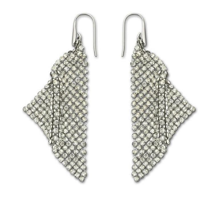 Swarovski Fit Gray Drop Earrings 976061