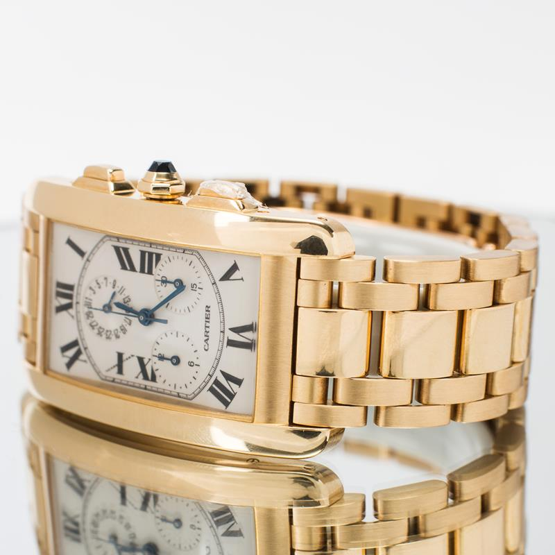 Pre-Owned Cartier Tank Américaine Chronoflex 1730