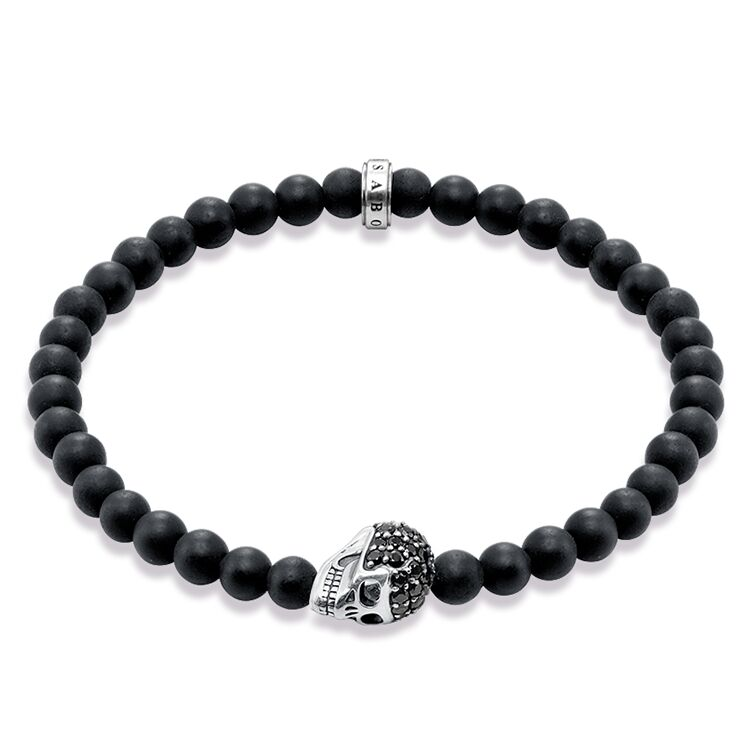 Thomas Sabo Skull Beaded Bracelet A1270-159-11