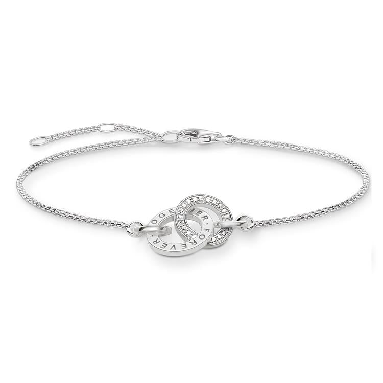 Glam and Soul silver Entwined bracelet 19.5cm