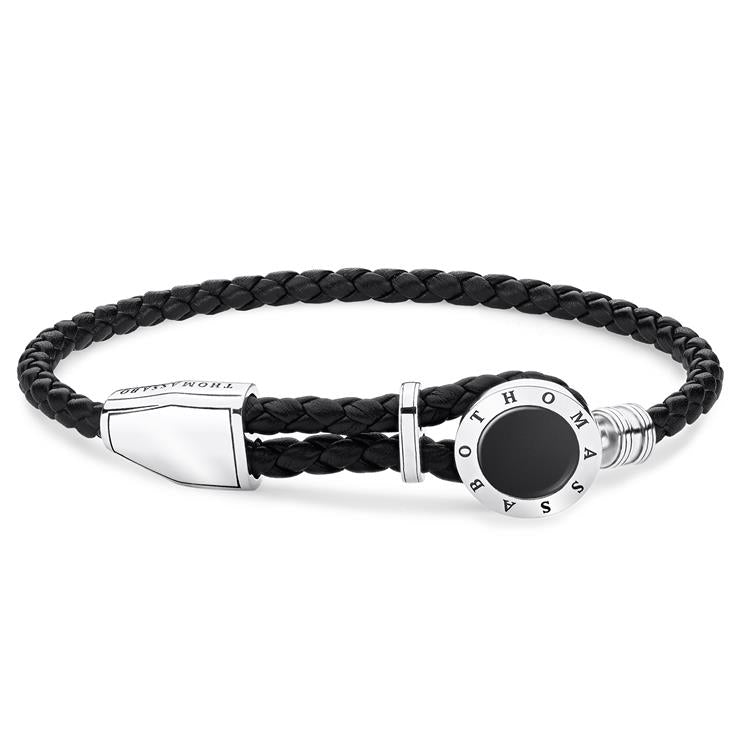 Thomas Sabo Men Leather Bracelet Onyx A1864-982-11-L25V