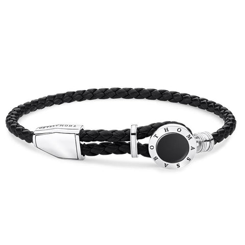 Thomas Sabo Men Leather Bracelet Onyx A1864-982-11