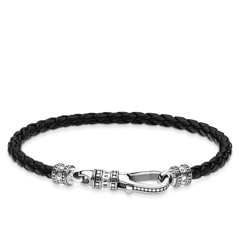 Thomas Sabo Black Leather Bracelet A1931-682-11