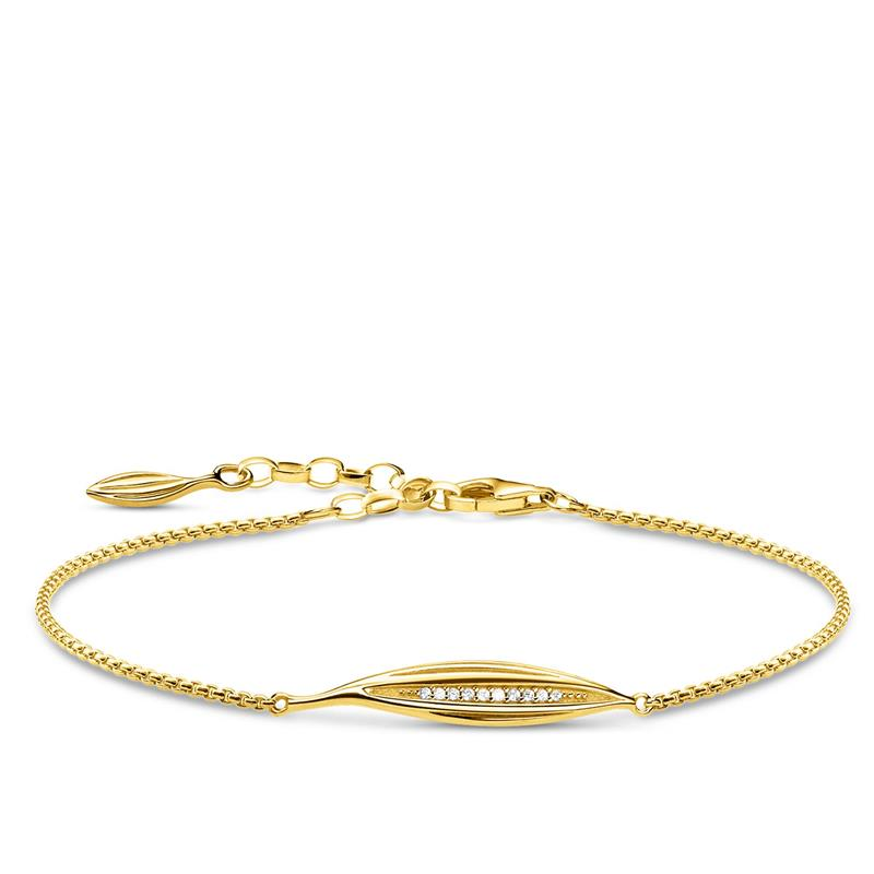 Thomas Sabo Gold Leaf Bracelet A1935-414-14