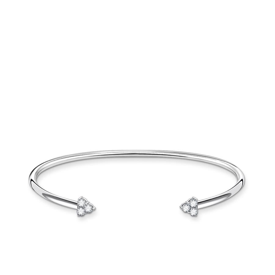 Thomas Sabo Flexible Zirconia Stones Silver Bangle