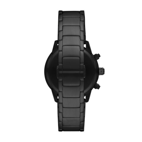Armani Gents Black Steel Bracelet Watch AR11242