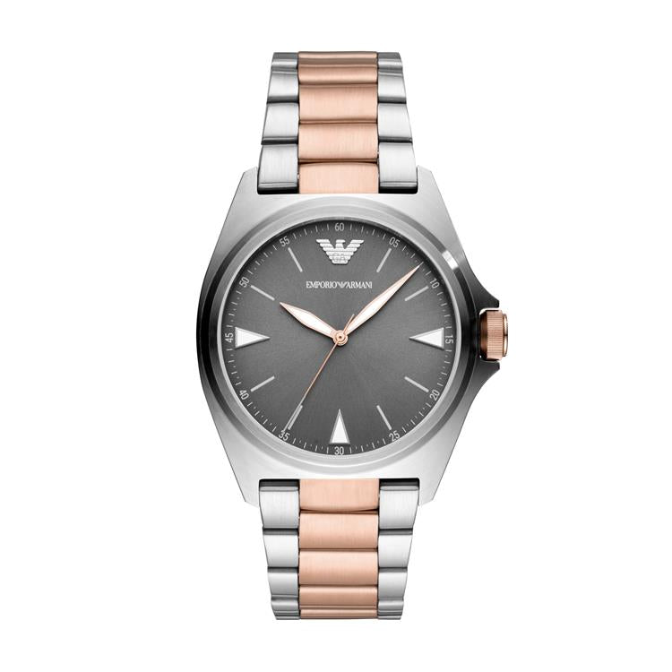 Armani Gents Steel & Rose Gold Watch AR11256