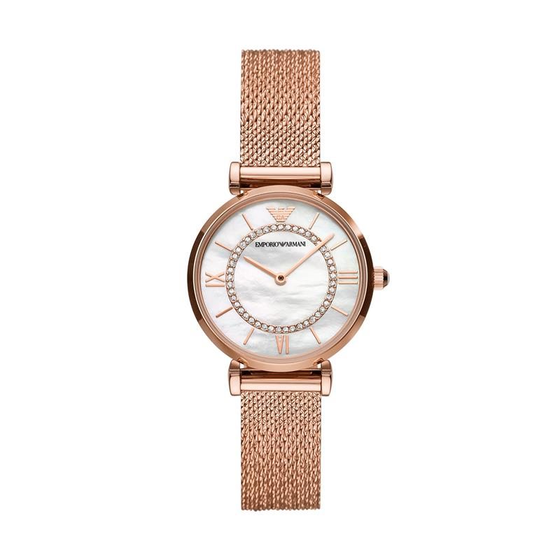 Emporio Armani Gianni T-Bar Rose Gold Watch AR11320
