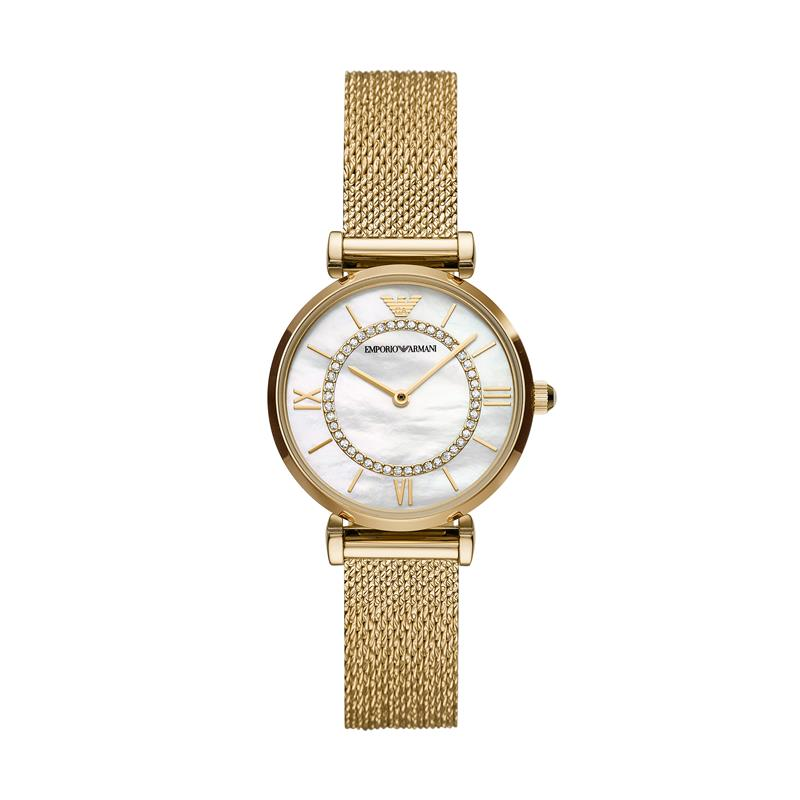 Emporio Armani Gianni T-Bar Gold Watch AR11321