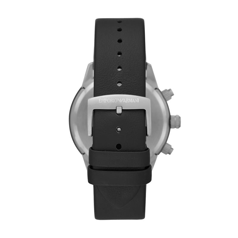 Emporio Armani Mario Black & Steel Watch AR11325
