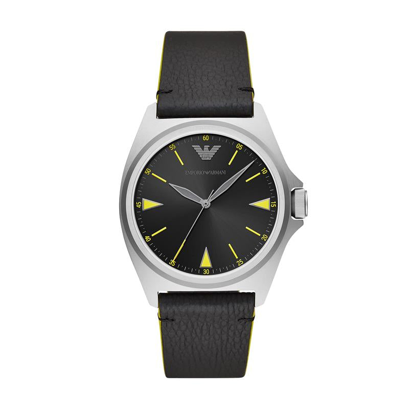 Emporio Armani Nicola Black & Steel Watch AR11330