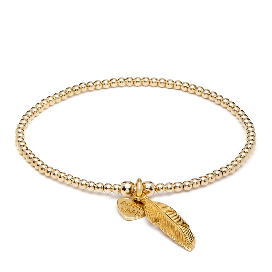 Annie Haak Santeenie Gold Charm Bracelet Feather
