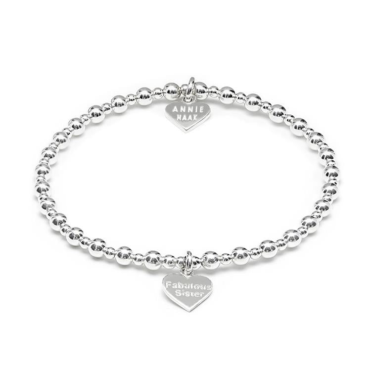 Annie Haak Mini Orchid Silver Charm Bracelet Sister