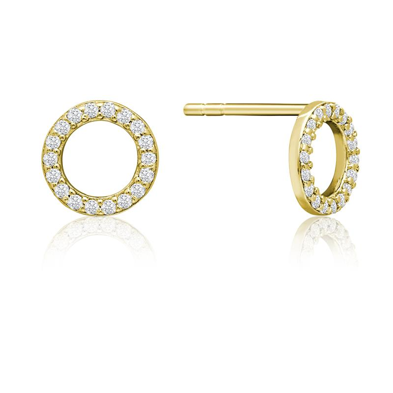 Achara Zirconia Open Circle Stud Earrings