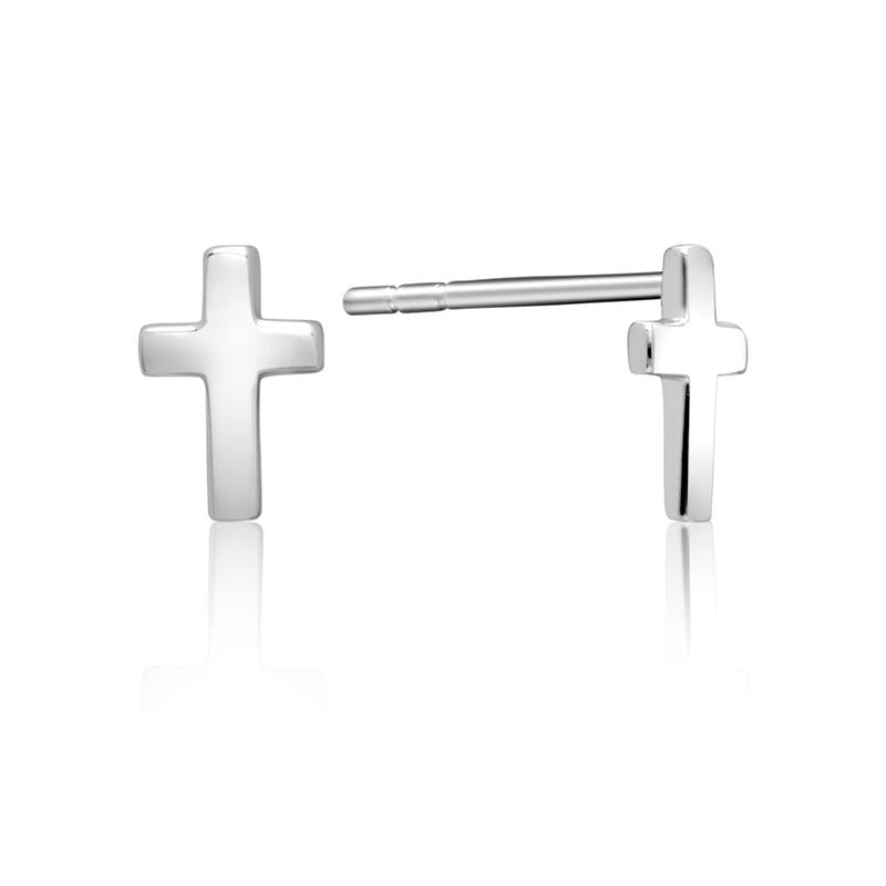 Achara Small Cross Stud Earrings