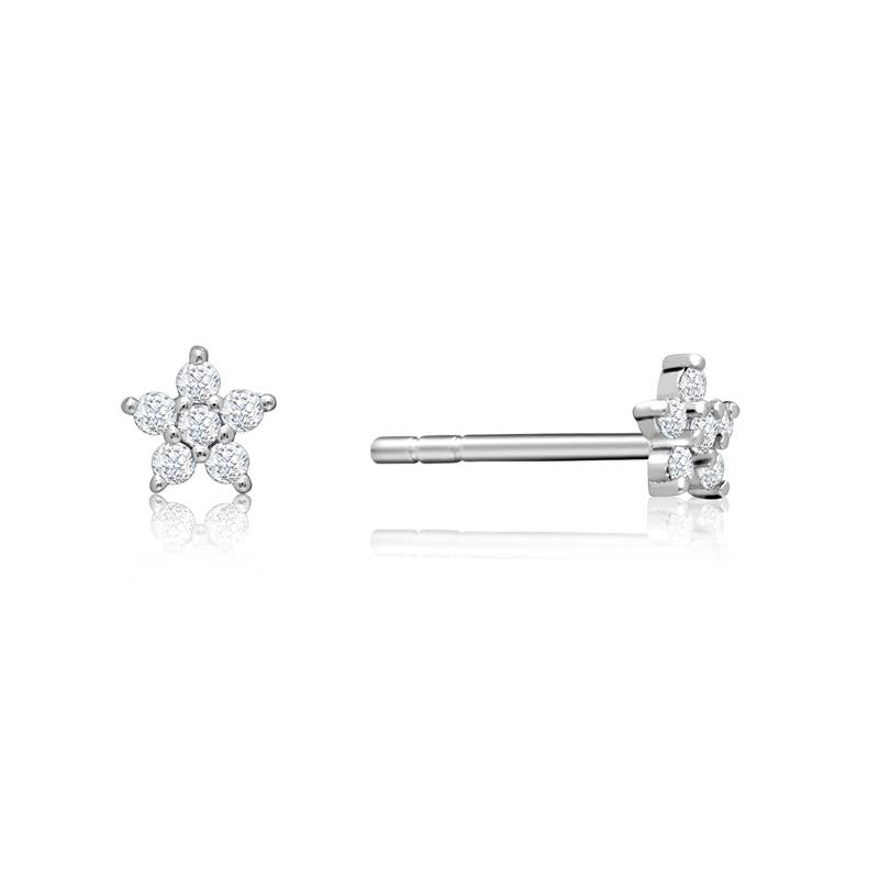 Achara Small Zirconia Star Stud Earrings