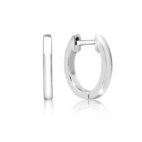 Achara Plain Huggie Hoop Earrings
