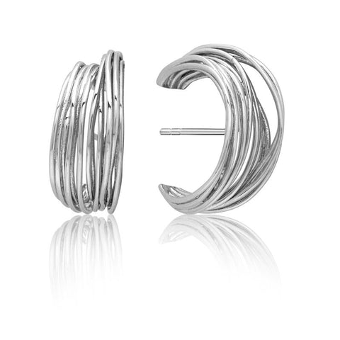 Achara Multi Strand Bold Half Hoop Earrings