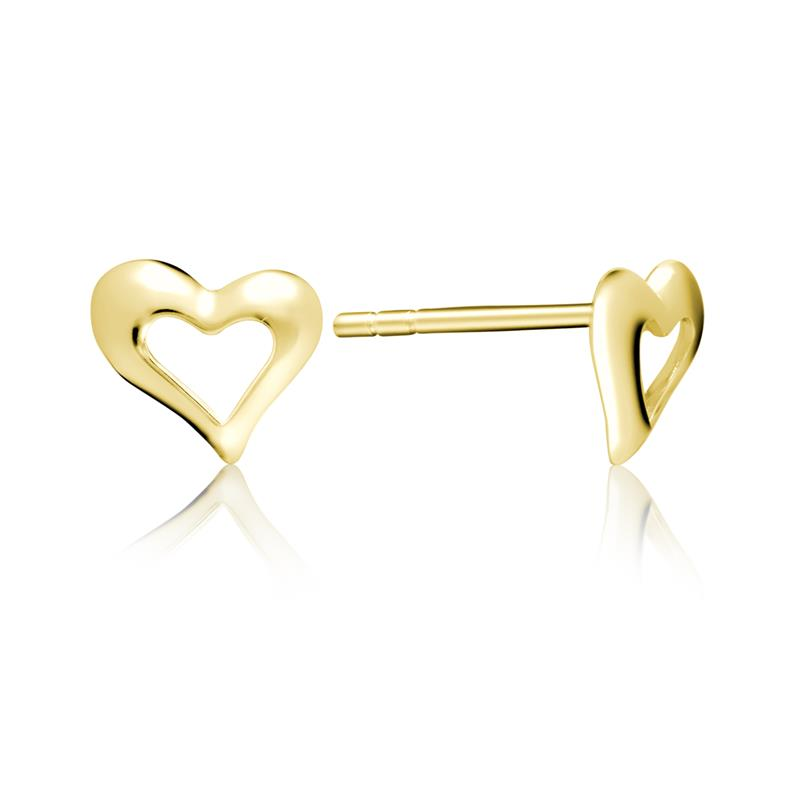 Achara Open Heart Stud Earrings