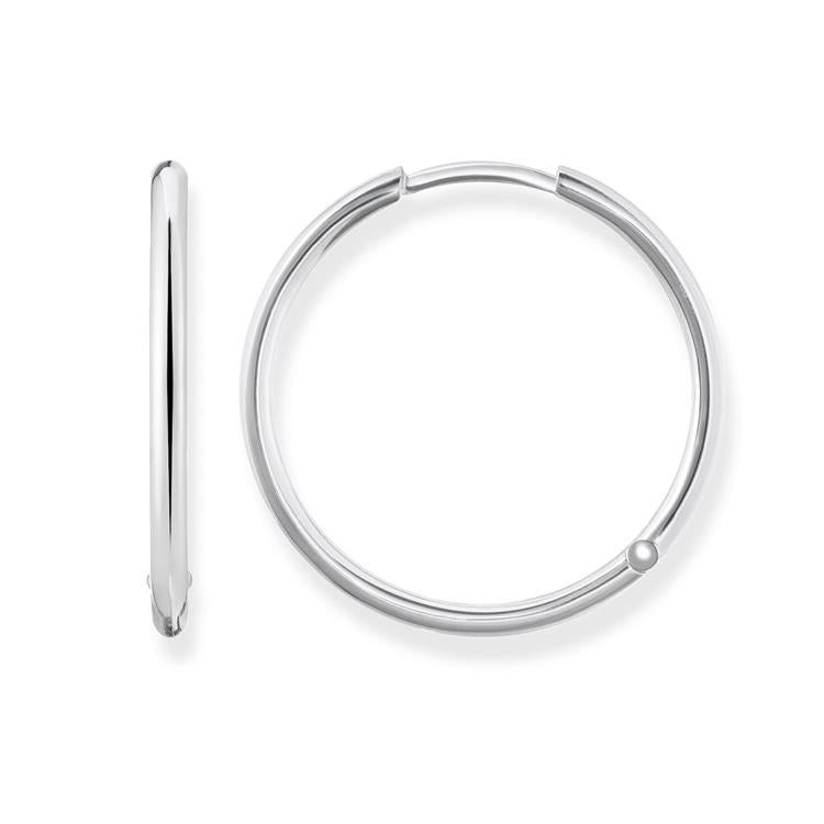 """1.5/""""  4mm X 40mm Plain Bold Thick Round Hoop Earrings Real Sterling Silver 925"""