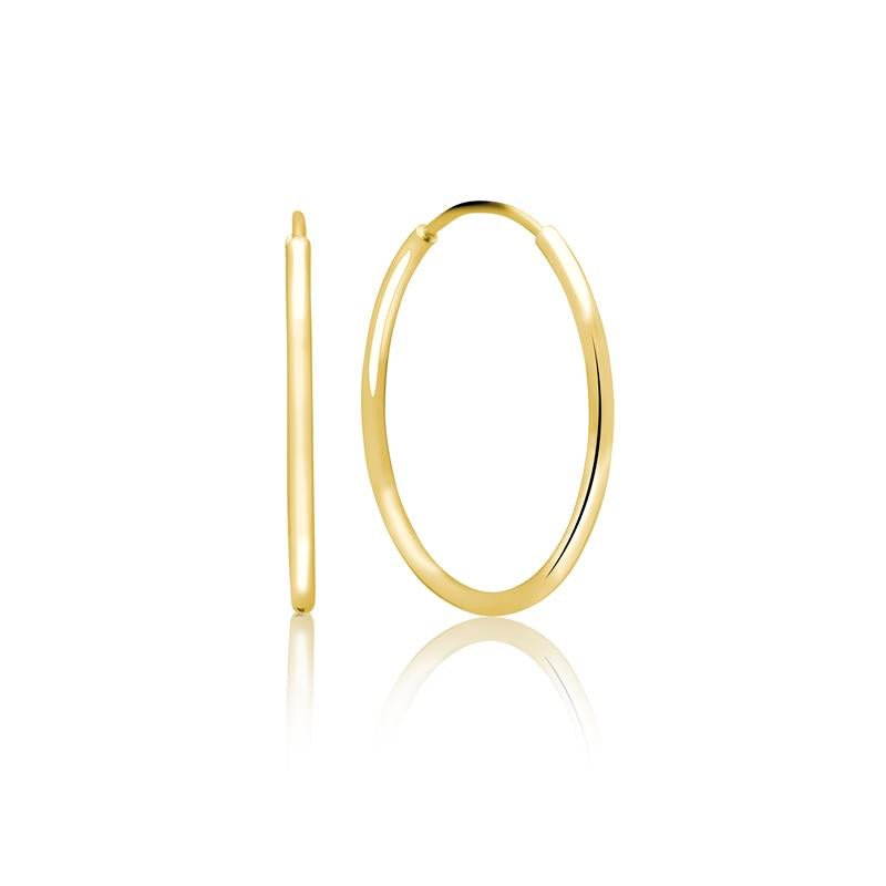 Achara Simple 1.2mm Small Gold Hoop Earrings