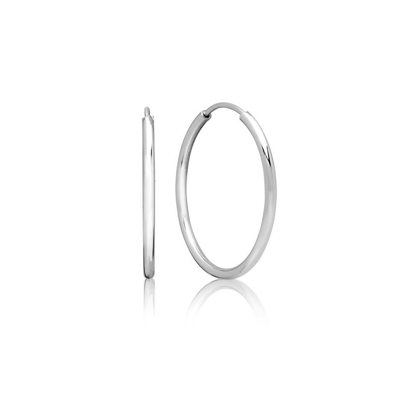 Achara 2mm Sterling Silver Large Hoop Earrings