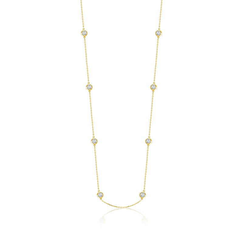 Achara Zirconia By The Yard Gold Necklace