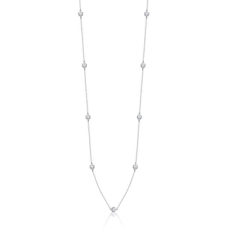 Achara Zirconia By The Yard Silver Necklace