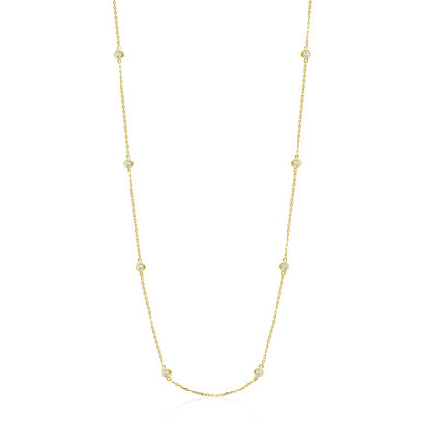 Achara 4mm Sparkling Zirconia By The Yard Necklace