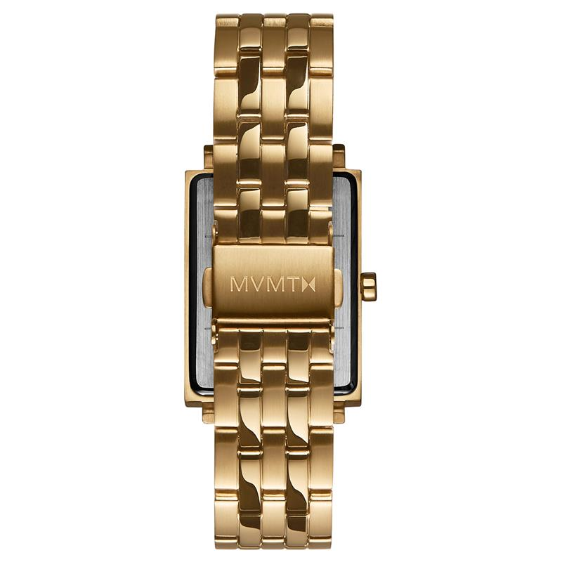 MVMT Signature Square Black & Gold Watch D-MF03-GGR
