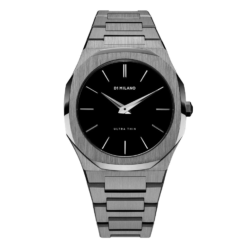 D1 Milano Ultra Thin Bracelet Gun Metal Watch A-UTB02