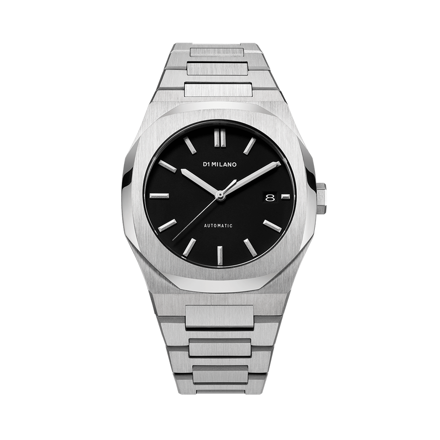 D1- Milano P701 Steel & Black Dial Watch ATBJ01